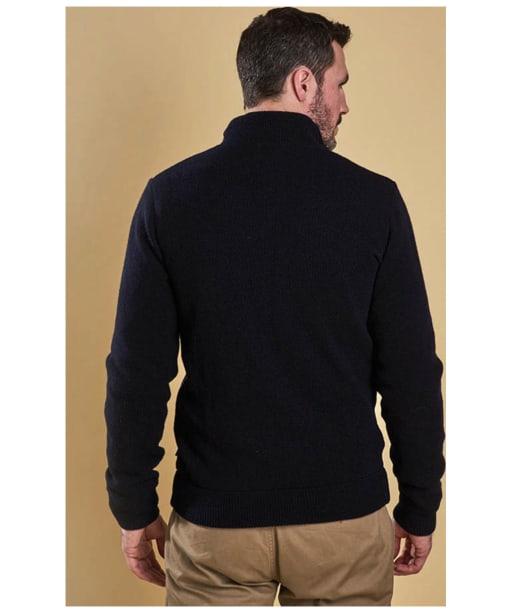 Men's Barbour Culzean Zip Through Sweater - Navy