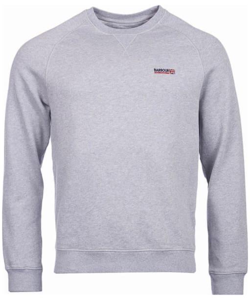 Men's Barbour International Indicator Crew Neck Sweater - Grey Marl