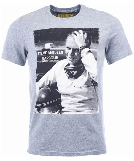 Men's Barbour Steve McQueen Close Up Tee - Grey Marl