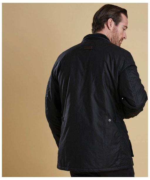 Men's Barbour Hereford Wax Jacket - Navy