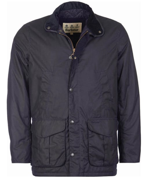 Men's Barbour Hereford Wax Jacket - Navy