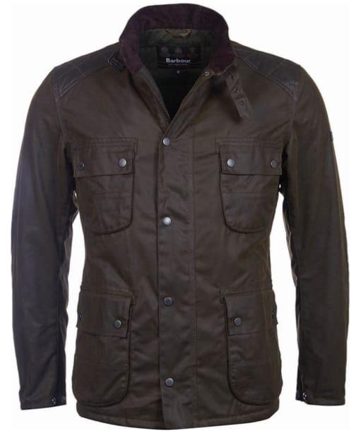 Men's Barbour International Weir Wax Jacket - Olive