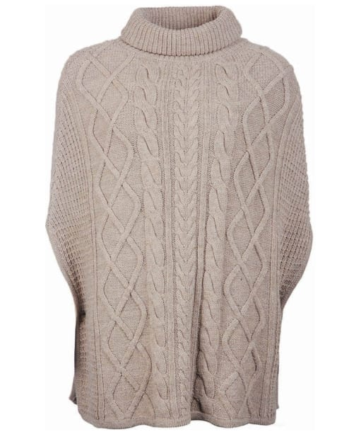 Women's Barbour Court Knitted Cape - Oatmeal