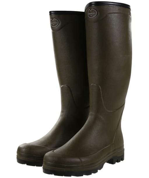 Men's Le Chameau Country Jersey XL Wellington Boots - Vert Chameau