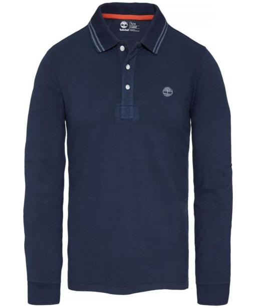 Men's Timberland Eastham Long Sleeve Polo Shirt - Dress Blue