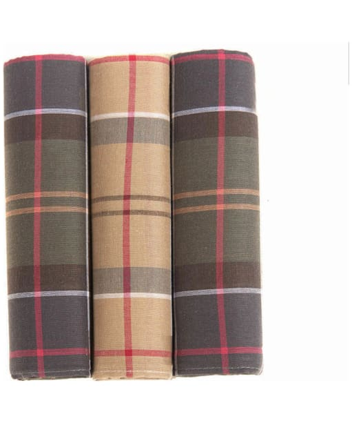 Men's Barbour Classic Tartan Handkerchief - Boxed Set of 3 - Classic Tartan