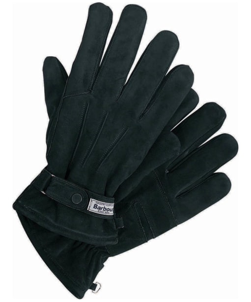 Men's Barbour Leather Thinsulate Gloves - Black