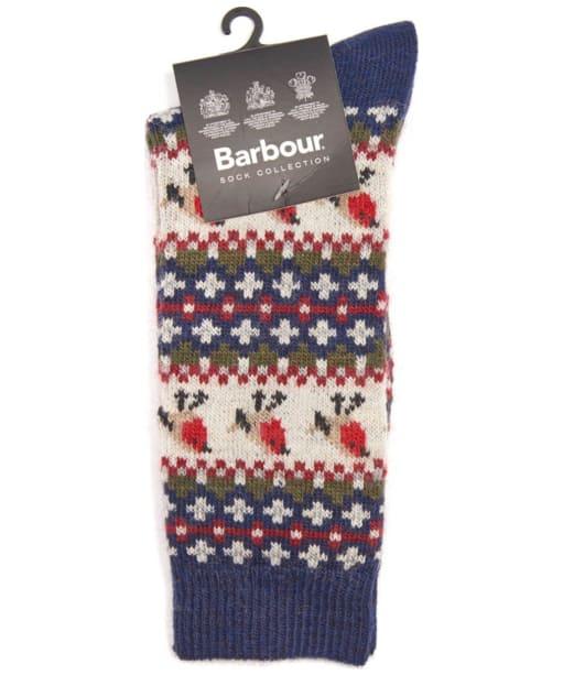 Barbour Robin Fairisle Socks - Navy
