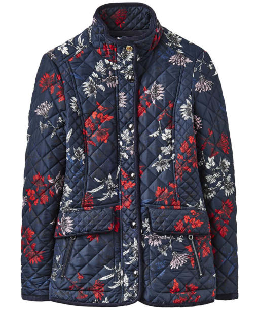 Women's Joules Newdale Printed Jacket - Marine Navy Fay Floral