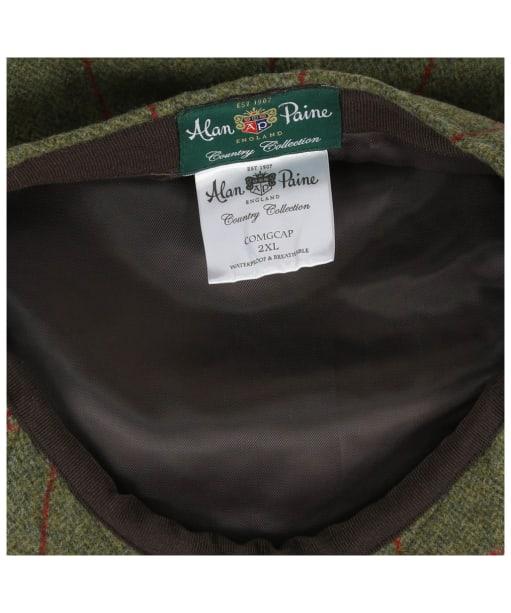 Men's Alan Paine Combrook Waterproof Tweed Flat Cap - Sage