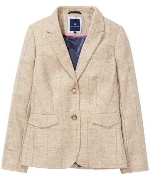 Women's Crew Clothing Grasmere Wool Blazer - Sand Check