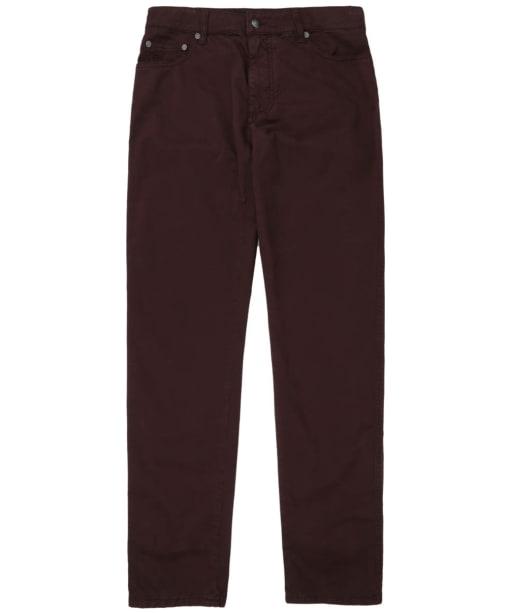 Men's Hackett Trinity Five-Pocket Chino Trousers - Damson