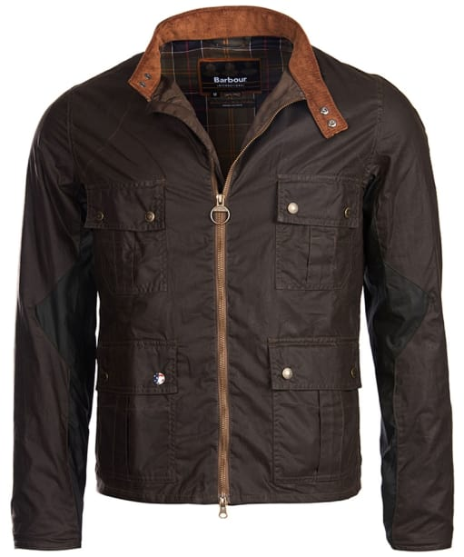 Men's Barbour Steve McQueen Chico Wax Jacket - Olive