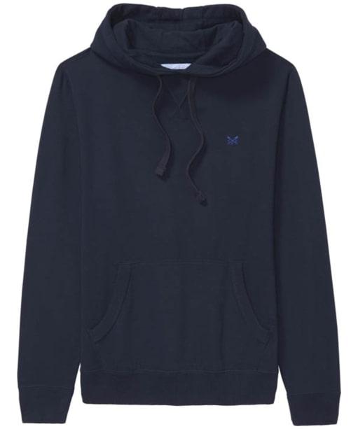 Men's Crew Clothing Logo Hoody - Dark Navy