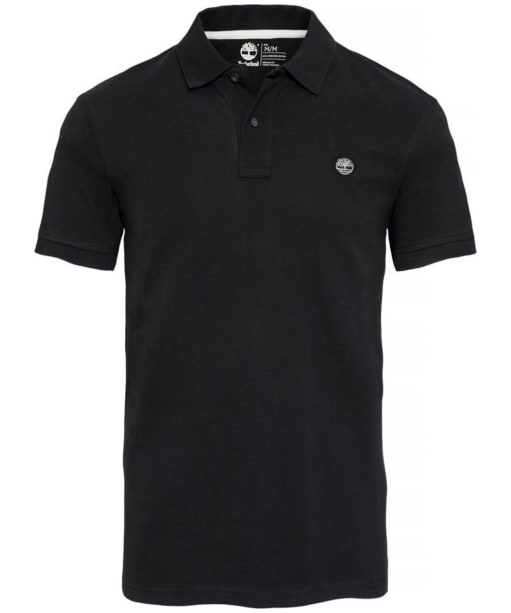 Men's Timberland Millers River Pique Polo Shirt - Black