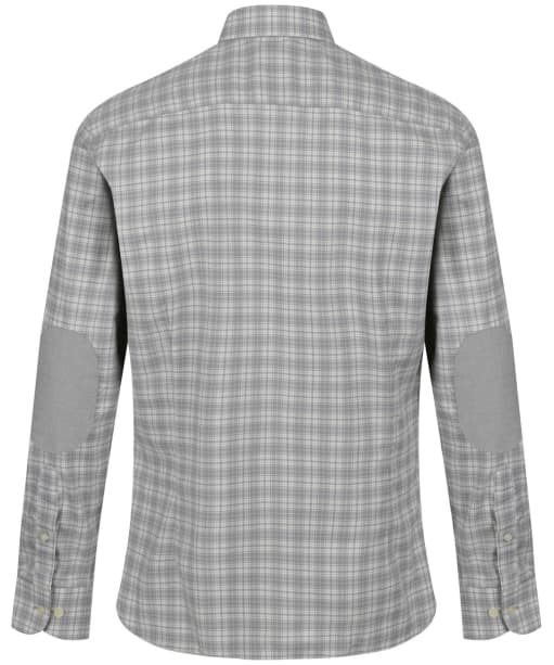 Men's Hackett Melange Check Multi Trim Shirt - Grey / White