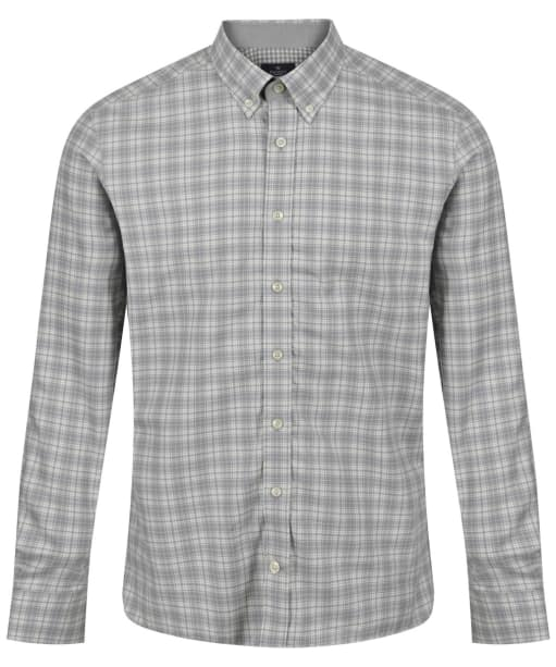 Men's Hackett Melange Check Multi Trim Shirt - Grey / White