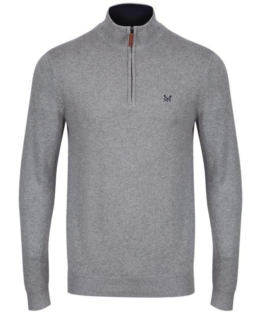 Men's Crew Clothing Half Zip Sweatshirt - Grey Marl