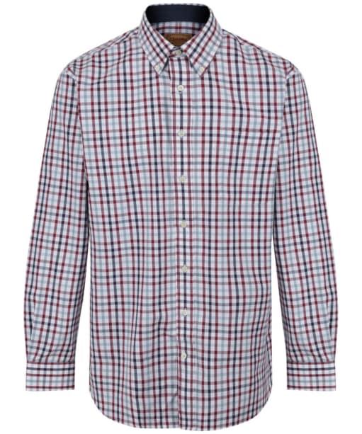 Men's Schoffel Brancaster Shirt - Sky Blue Check