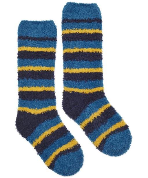 Boy's Joules Fluffy Socks - Dark Topaz