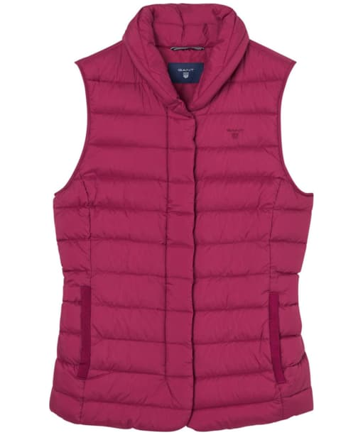 Women's GANT Lightweight Down Vest - Raspberry Purple
