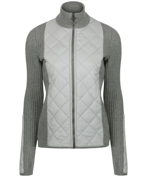 Women's Barbour Sporting Zip Knit - Light Grey Marl