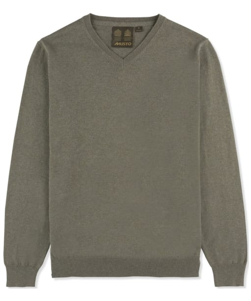 Men's Musto Winter Merino V-Neck Knit - Worsted Green