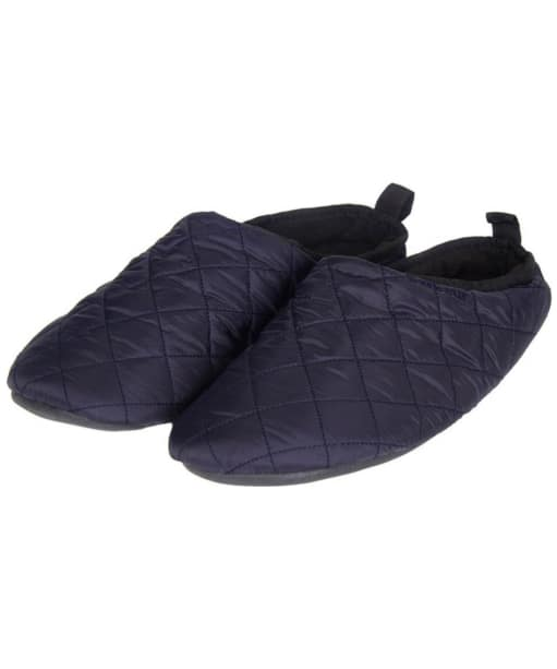 Men's Barbour Gurthie Quilted Slippers - Navy