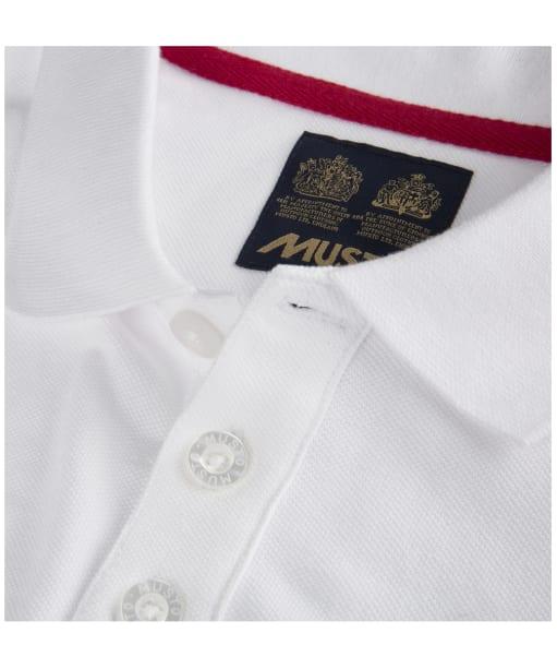 Men's Musto Pique Polo Shirt - White