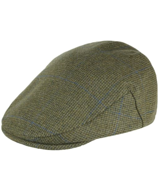 Men's Alan Paine Combrook Waterproof Tweed Flat Cap - Lagoon