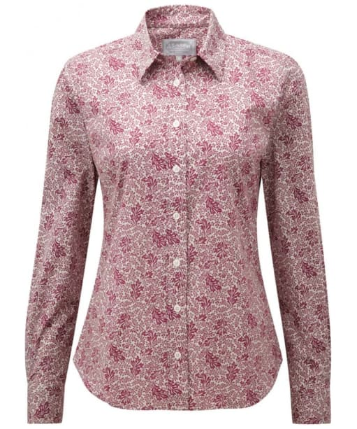 Women's Schoffel Suffolk Shirt - Fern Burgundy