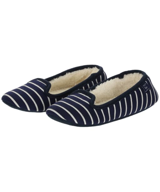 Women's Joules Dreama Slippers - French Navy Stripe