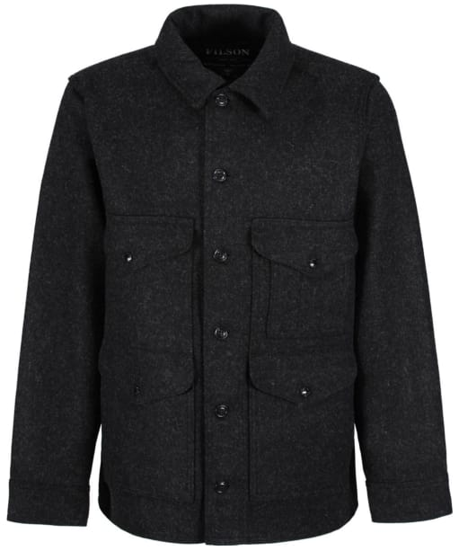 Men's Filson Mackinaw Wool Cruiser Jacket - Charcoal