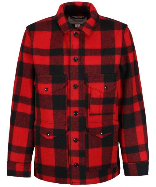 Men's Filson Mackinaw Wool Cruiser Jacket - Red / Black Plaid