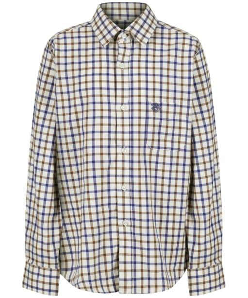 Boy's Alan Paine Ilkley Shirt, 3-16yrs - Brown Check