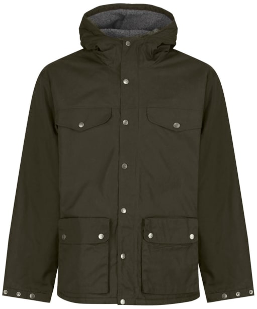 Men's Fjallraven Greenland Winter Jacket - Dark Olive / Grey