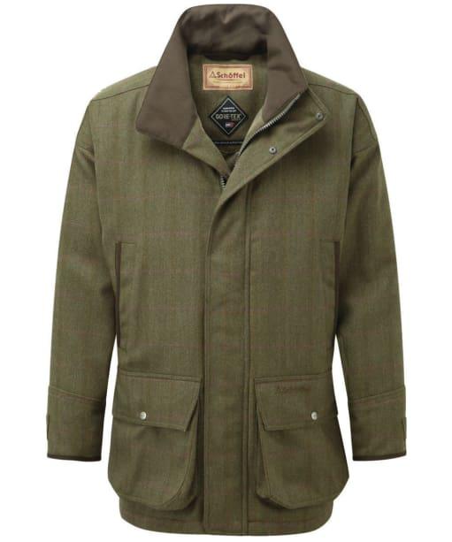 Men's Schoffel Ptarmigan Tweed Coat - Sandringham Tweed
