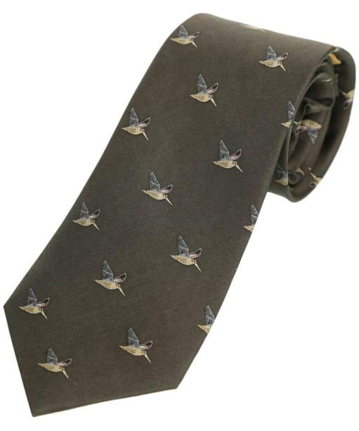 Men's Schöffel Silk Tie - Dark Olive