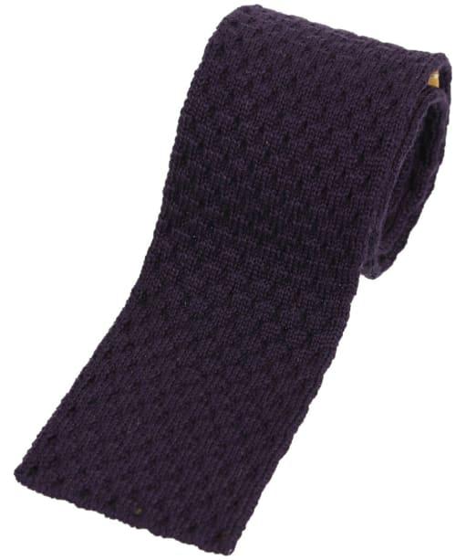 Men's Schöffel Knitted Tie - Aubergine