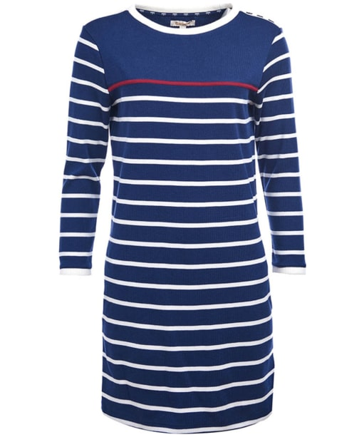 Seaton Dress - Navy / Cloud