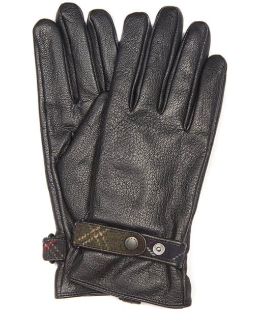 Women's Barbour Goatskin Leather Gloves - Black