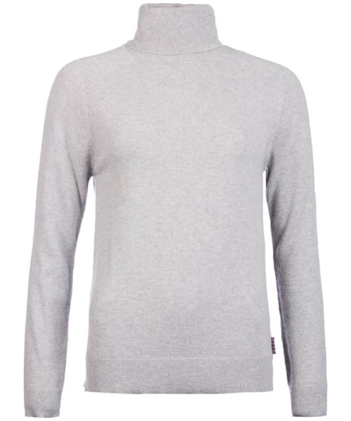 Women's Barbour Mill Roll Neck Sweater - Light Grey Marl