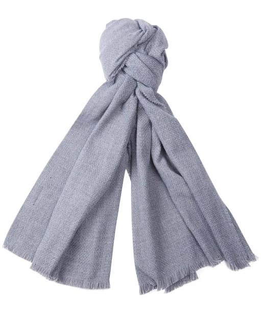Women's Barbour Waffle Textured Scarf - Pearl Grey