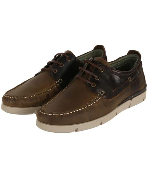 Men's Barbour George Boat Shoe - Beige / Brown