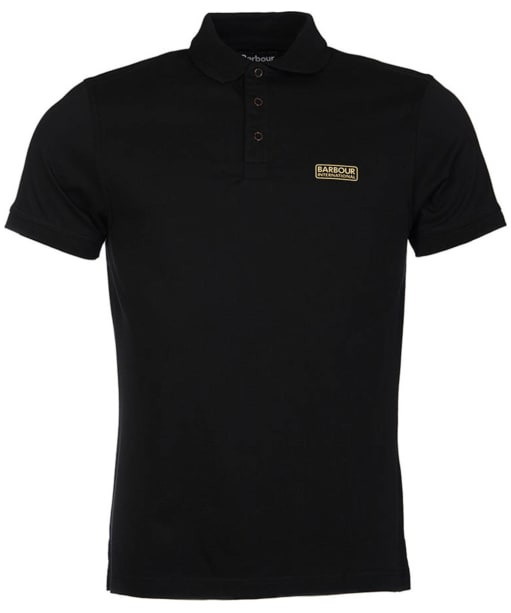 Men's Barbour International Kick Polo Shirt - Black