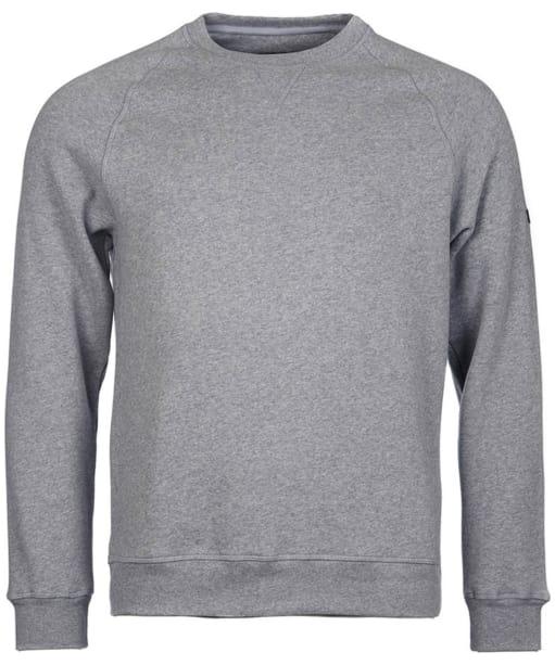 Men's Barbour International Gauge Crew Neck Sweater - Storm Marl