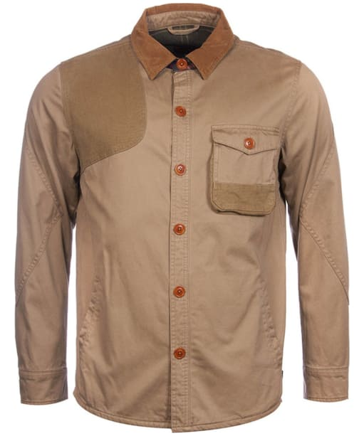 Men's Barbour Heritage Clough Overshirt - Stone