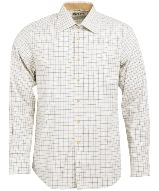 Men's Barbour Field Tattersall Shirt - Classic collar - Navy