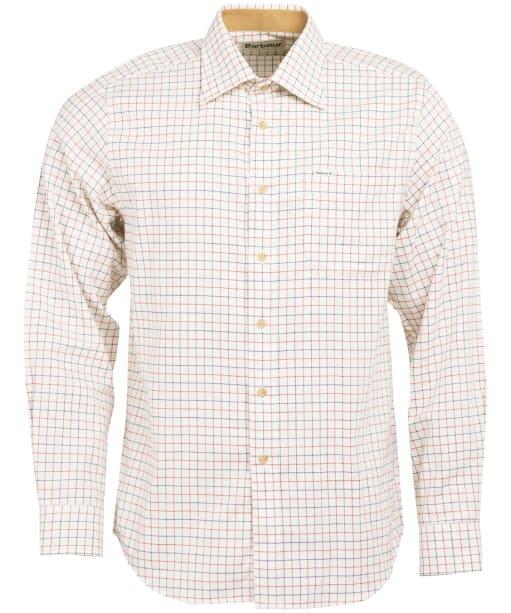 Men's Barbour Field Tattersall Shirt - Classic collar - Rich Red