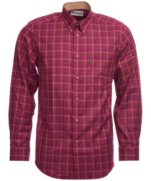 Men's Barbour Sporting Tattersall Shirt - Long Sleeve - Ruby
